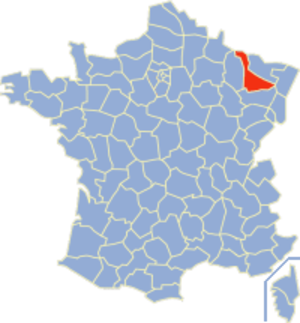 Communes of the Meurthe-et-Moselle department - Image: Meurthe et Moselle Position