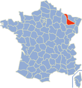 Communes of the Meurthe-et-Moselle department - Image: Meurthe et Moselle Position