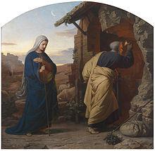 Maria e José buscam um refúgio para o parto