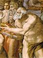Michelangelo, giudizio universale, dettagli 12 san pietro.jpg