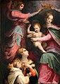 Michele tosini, madonna col bambino incoronata dagli angeli tra le ss. agnese e cecilia e novizi domenicani 02.jpg
