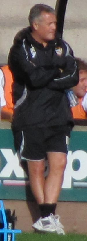 Micky Adams - Adams watching his team defeat Aldershot Town 1–0 at Vale Park in September 2010.
