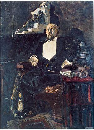 Savva Mamontov - Mikhail Vrubel: Portrait of Savva Mamontov (1897). The Tretyakov Gallery, Moscow.