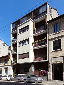 studi di architettura millano - archiram progetti descrive Pietro Lingeri casa toninello
