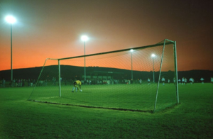 Millbrook A.F.C. - An action shot from Mill Park (now Jenkins Park) in the South Western League, 1990-91