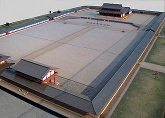 Heijō Palace - Miniature model of the former imperial audience hall compound