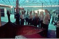 Ministerial Officers Watching Pteranodon - Dinosaurs Alive Exhibition - Science City - Calcutta 1995-06-15 117.JPG