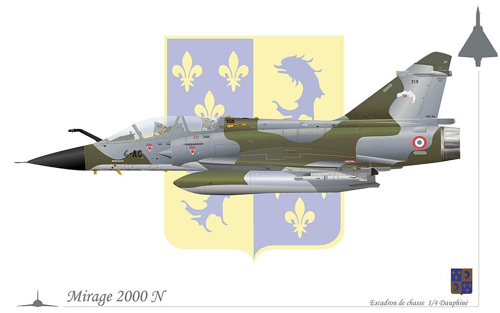 المقاتله الفرنسيه Dassault Mirage 2000  1024px-Mirage2000Ndauphin%C3%A9