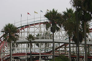 English: Mission Beach Roller Coaster in 2004.