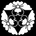 Mitsu-yose Hana-bishi Chō inverted.jpg