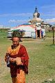Mnich buddyjski w klasztorze Erdene Dzuu.jpg