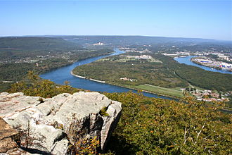 Moccasin Bend - A view of the National Archeological District