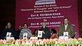 "Mohd. Hamid Ansari releasing the book ""Expression of Thoughts"" (English), written by the Deputy Chairman, Rajya Sabha, Shri K. Rahman Khan, in New Delhi. The Speaker, Lok Sabha.jpg"