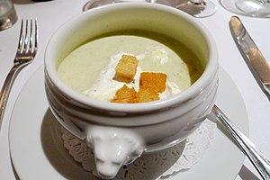 Leek soup - Image: Mon Plaisir, Covent Garden, London (3717184145)