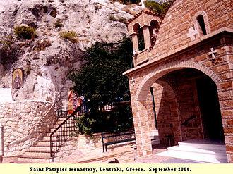 Saint Patapios - Monastery of Saint Patapios, Loutraki, Greece, September 2006