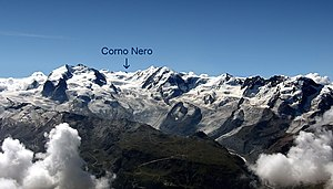 Schwarzhorn (Monte Rosa Massif) - The Corno Nero in the Monte Rosa massif