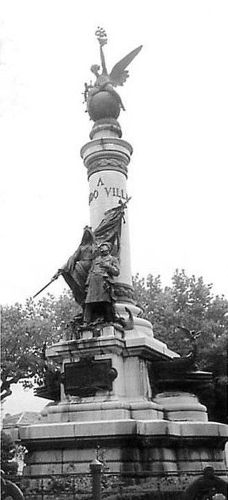 Castropol -  Memorial to Fernando Villaamil erected in 1911 in Castropol
