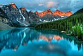 Moraine Lake Sunrise (7960461442).jpg
