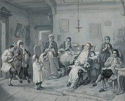 Moritz Daniel Oppenheim: Purim (Feast of Esther) (Das Purim-Fest)