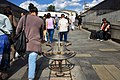 Moscow, Krasnopresnenskaya Zastava - pedestrian tunnel and metro vestibule (30706233783).jpg