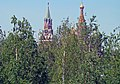 Moscow, Zaryadye Park. View to the Kremlin and Saint Basil's Cathedral through the trees.jpg