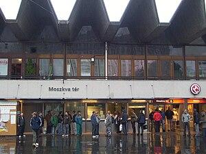 Széll Kálmán tér (Budapest Metro) - Image: Moskva tér