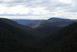 Mount Alexandra's Katoomba Lookout towards the Blue Mountains 2012
