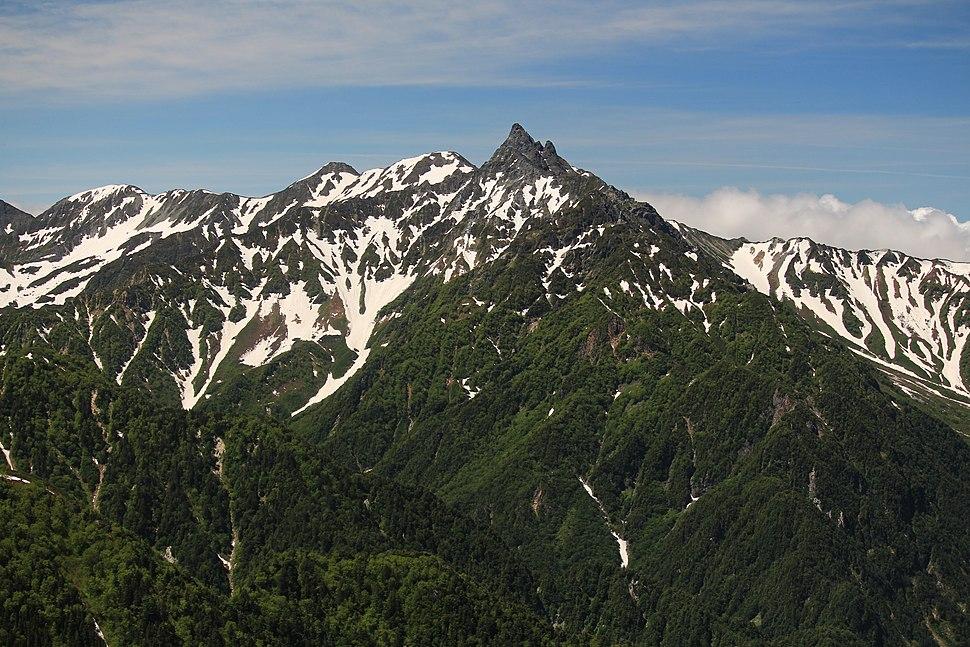 Mount Yari from Mount Tsubakuro