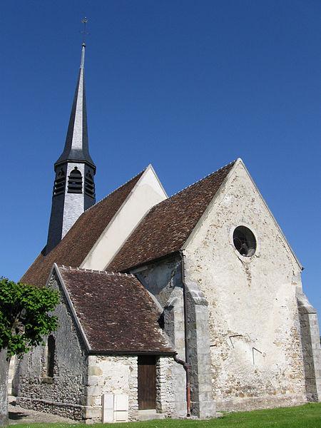 Église Sainte-Geneviève de Mouy-sur-Seine. (département de la Seine-et-Marne, région Île-de-France).