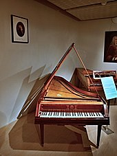 Fortepiano played by Mozart in 1787, Czech Museum of Music, Prague[68] (Source: Wikimedia)