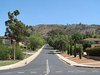 Pearce, Australian Capital Territory - Looking up Parkhill Street, Pearce, towards Mount Taylor.