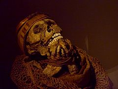Muisca mummy - Museo del Oro, Bogotá.jpg