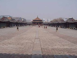 Nurhaci - In 1621, Nurhaci started the construction of a new palace, the Mukden Palace, for his Later Jin dynasty's capital of Mukden (now Shenyang).