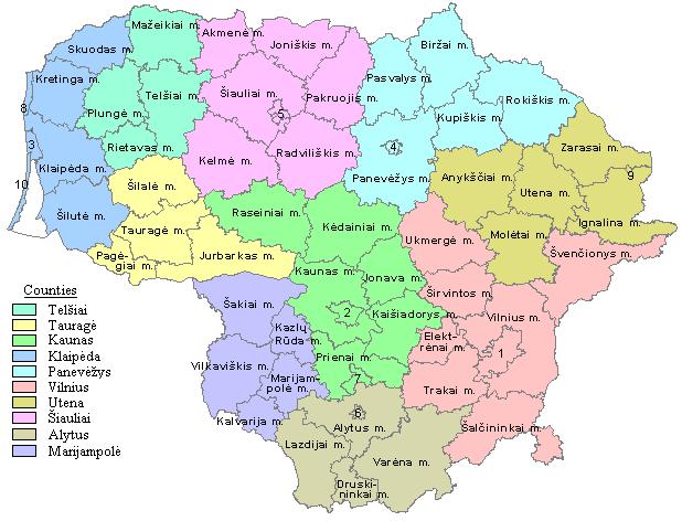 Municipalities in Lithuania
