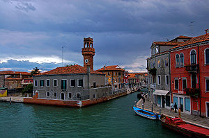 Murano - View from a bridge on Murano, overlooking the Canal Grande di Murano