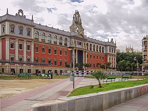 University of Murcia - Facade of the Arts Faculty (La Merced campus) viewed from Plaza de la Universidad