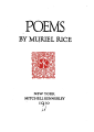 Muriel Rice Poems title page.png