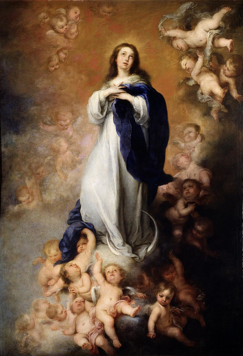 The Immaculate Conception, painted by Bartolomé Esteban Murillo, which inspired the sculpture in Nagasaki's cathedral.