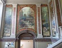 Eingangsbereich Musée Zoologique De Strasbourg Mit Gemälden Von Georg Hacker