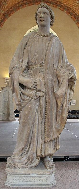 Saint Philip (Nanni di Banco) - Image: Museo di orsanmichele, nanni di banco, san filippo 01
