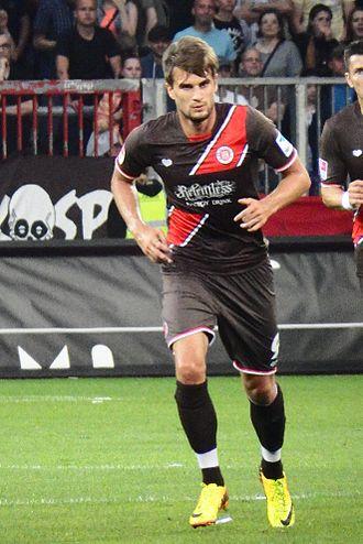 Christopher Nöthe - Nöthe playing for St. Pauli in 2013.