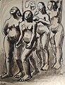 Nøgne Kvinder i bevægelse. Elisa Maria Boglino. Tusch 1927.jpg
