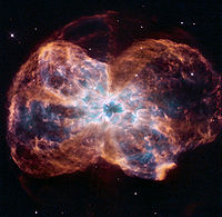 The planetary nebula NGC 2440 as photographed by the Hubble Space Telescope.