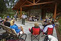 NPS Ranger Sami gives a campground program for visitors at K'esugi Ken Campground in Denali State Park on July 13, 2019. (ba27bf7a-d3bf-45b5-889f-6990c58984a6).JPG