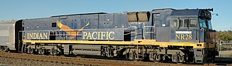 National Rail NR class - NR28 in Indian Pacific blue livery in June 2006