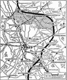 MapPositions proksimume 30 aprilo, antaŭ la brita retiro