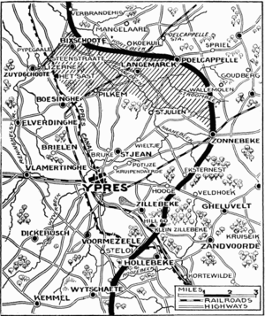 Ypres Salient - The Ypres Salient during the Second Battle of Ypres