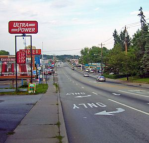 Wallkill, Orange County, New York - Route 211 looking towards Wallkill from Middletown