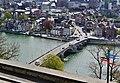 Namur Blick von der Zitadelle auf die Pont des Jambes 6.jpg