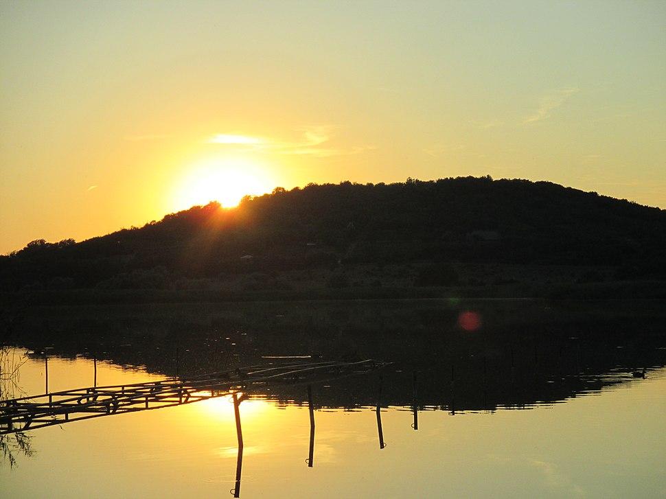 Naplemente a Balatonnál
